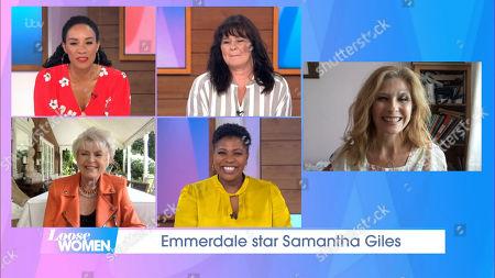 Michelle Ackerley, Coleen Nolan, Gloria Hunniford, Brenda Edwards and Samantha Giles