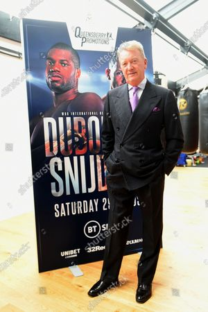 Frank Warren during the Daniel Dubois Media Day at Marles Stud on 25th August 2020