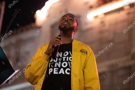Editorial picture of One Year Violin Candelight Vigil for Elijah McClain, Los Angeles, USA - 24 Aug 2020