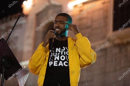 Editorial image of One Year Violin Candelight Vigil for Elijah McClain, Los Angeles, USA - 24 Aug 2020