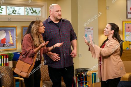 Stock Image of Christina Vidal as Jo, Will Sasso as Bill, Gloria Calderon Kellett as Ms. Molina