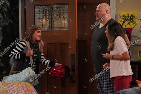 Olivia Taylor Cohen as Marta, Will Sasso as Bill and Christina Vidal as Jo