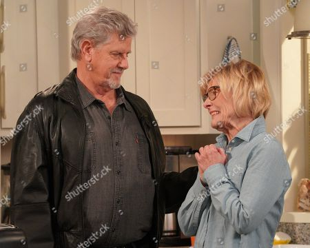 Stock Image of Sam McMurray as Dave Plonker and Jane Curtin as Sandy