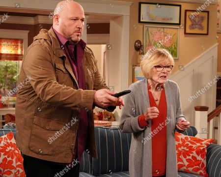 Stock Picture of Will Sasso as Bill and Jane Curtin as Sandy