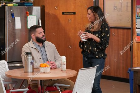Stock Image of Guillermo Díaz as Chuy and Christina Vidal as Jo