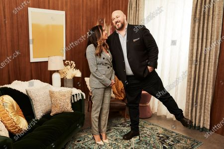 Stock Picture of Christina Vidal as Jo and Will Sasso as Bill