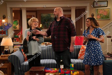 Jane Curtin as Sandy, Will Sasso as Bill and Christina Vidal as Jo