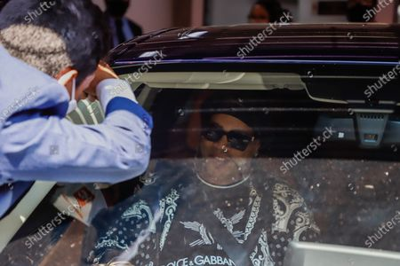 Stock Photo of Ronaldinho Gaucho leaves the Hotel Palmaroga, heading to the airport, after being released following the judicial process he faced over the use of false documents, in Asuncion, Paraguay, 25 August 2020. Ronaldinho Gaucho and his brother Roberto left the luxurious hotel where they were serving home confinement to the Asuncion airport to take a flight to Rio de Janeiro, after almost half a year detained in Paraguay for using falsified documents.