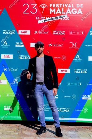 Gonzalo Miro poses before taking part in the conference about 'El perro del hortelano' (lit. The Gardeners' Dog) at the 23rd edition of Malaga Film Festival, in Malaga, Spain, 25 August 2020. The festival, running from 21 to 30 August, was postponed due to the coronavirus lockdown last March.