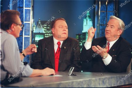 The Rev. Jerry Falwell, right, makes a point while appearing with Hustler publisher Larry Flynt on CNN's Larry King show in New York. On, Falwell's son, Jerry Falwell Jr. said that he has submitted his resignation as head of evangelical Liberty University