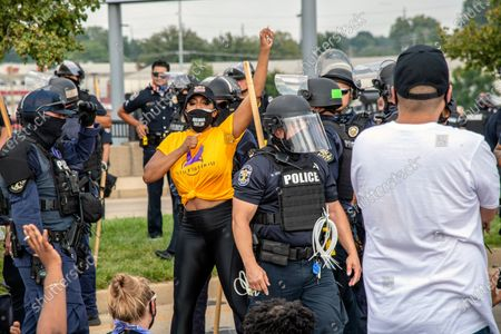 Porsha Williams is arrested by police during the Good Trouble Tuesday march for Breonna Taylor, in Louisville, Ky
