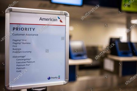 American Airlines Burbabnk ticket counters amid the Coronavirs outbreak