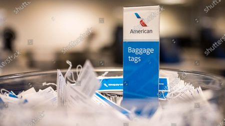 Stock Image of American Airlines Burbabnk ticket counters amid the Coronavirs outbreak