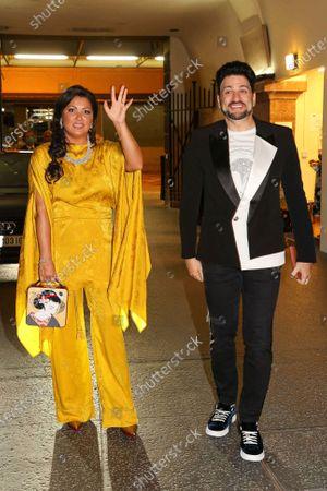 Stock Photo of Anna Netrebko and husband Yusif Eyvazov after the concert