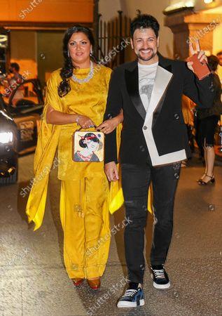 Anna Netrebko and husband Yusif Eyvazov after the concert