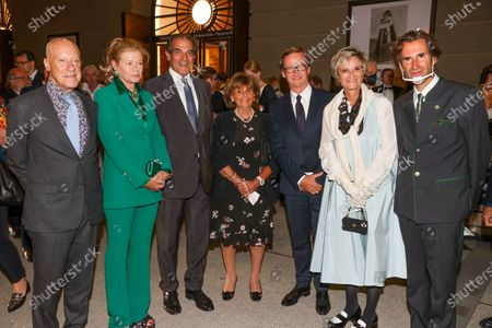 Architect Sir Norman Foster with his wife Elena Ochoa Foster, Bernd Knobloch, Charlotte Knobloch, Thaddaeus Ropac, Gloria von Thurn und Taxis, Pierre Pelegry