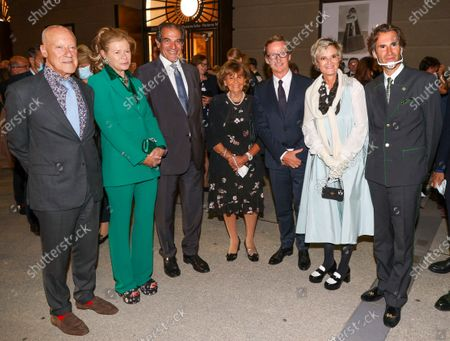 Stock Picture of Architect Sir Norman Foster with his wife Elena Ochoa Foster, Bernd Knobloch, Charlotte Knobloch, Thaddaeus Ropac, Gloria von Thurn und Taxis, Pierre Pelegry
