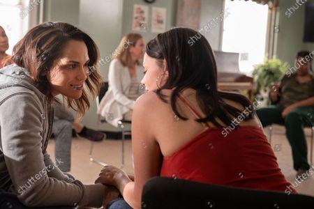 Stock Picture of Monica Raymund as Jackie Quinones and Jordan Lane Price as Tina