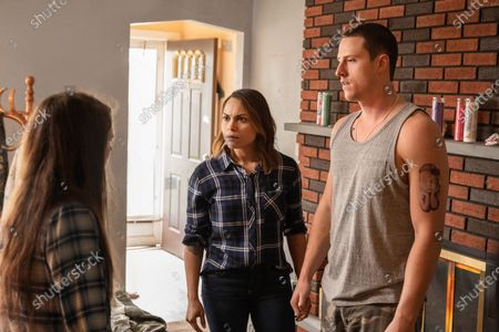 Mia Vallet as Lisa, Monica Raymund as Jackie Quinones and Shane Harper as Junior McCarthy