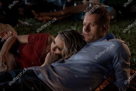 Stock Image of Riley Voelkel as Renee Shaw and James Badge Dale as Detective Ray Abruzzo