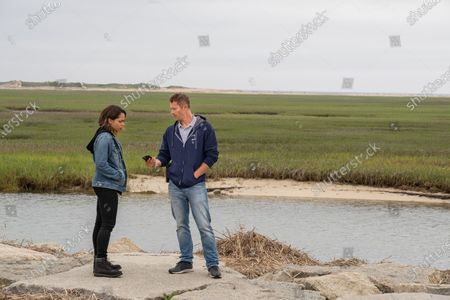Monica Raymund as Jackie Quinones and James Badge Dale as Detective Ray Abruzzo