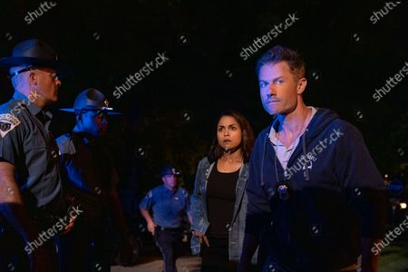 Stock Image of Monica Raymund as Jackie Quinones and James Badge Dale as Detective Ray Abruzzo