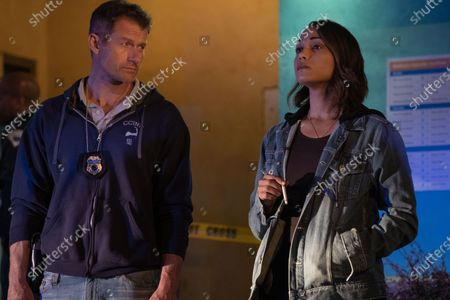 James Badge Dale as Detective Ray Abruzzo and Monica Raymund as Jackie Quinones
