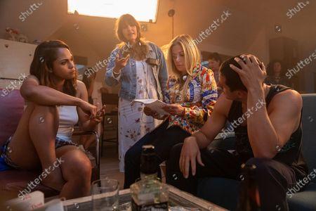 Monica Raymund as Jackie Quinones, Rebecca Cutter Executive Producer, Ellen Schwartz Executive Producer and Shane Harper as Junior McCarthy