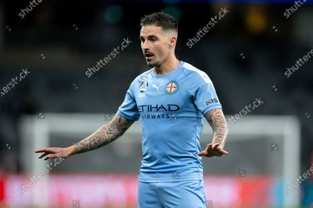 Melbourne City forward Jamie Maclaren (9) has things under control