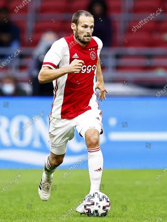 Daley Blind of Ajax in action during a pre-season friendly soccer match between Ajax Amsterdam and Hertha BSC at the Johan Cruijff Arena in Amsterdam, Netherlands, 25 August 2020 (issued on 26 August 2020). Blind, who was diagnosed with a heart condition in December 2019, 'feels good under the circumstances' after collapsing during the match, Dutch Eredivisie soccer club Ajax said on 26 August 2020.