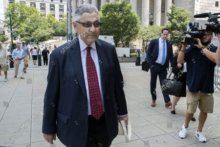 Former New York Assembly Speaker Sheldon Silver arrives at federal court in New York. Silver is due to report, to a federal prison in Otisville, New York, after being sentenced earlier this year to 6 1/2 years behind bars in a corruption case that toppled him from his longtime position as one of the state's most powerful politicians