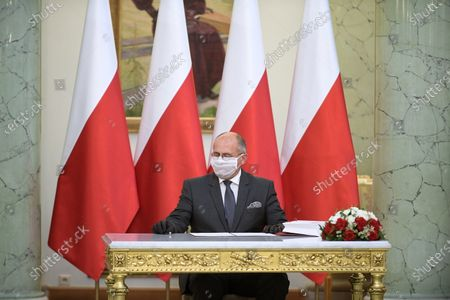 Editorial picture of New foreign minister Zbigniew Rau appointment ceremony, Warsaw, Poland - 26 Aug 2020
