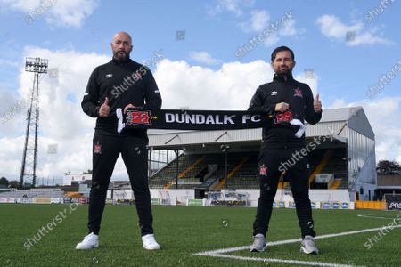 Dundalk interim head coach Filippo Giovagnoli and assistant coach Giuseppe Rossi