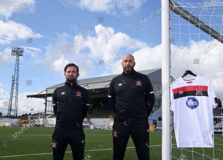 Dundalk assistant coach Giuseppe Rossi and interim head coach Filippo Giovagnoli