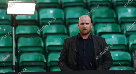 Stock Picture of Former Celtic player John Hartson at the UEFA Champions League second qualifying round match between Celtic Glasgow and Ferencvaros TC in Glasgow, Britain, 26 August 2020.
