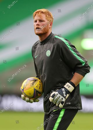 Goalkeeper Adam Bogdan of Ferencvaros warms up ahead the UEFA Champions League second qualifying round match between Celtic Glasgow and Ferencvaros TC in Glasgow, Britain, 26 August 2020.