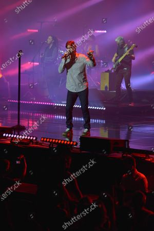 Melendi performs on stage at Starlite Music Festival in Marbella, southern Spain, 26 August 2020. Starlite Festival runs until 29 August.