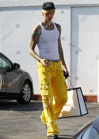 Editorial image of Machine Gun Kelly out and about, Los Angeles, USA - 25 Aug 2020