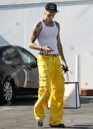 Editorial photo of Machine Gun Kelly out and about, Los Angeles, USA - 25 Aug 2020