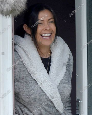 Kym Marsh is pictured filming the Kay Mellor drama The Syndicate in Leeds. This is Kym's first role since leaving Coronation Street.