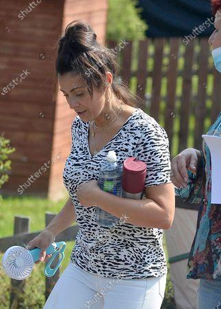 Editorial photo of Kym Marsh filming, Leeds, UK - 12 Aug 2020