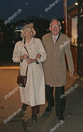 Editorial picture of Members Leave Queens Club London After Attending A Meeting Discussing The Clubs Future. Dr Francis And Joan Preston.