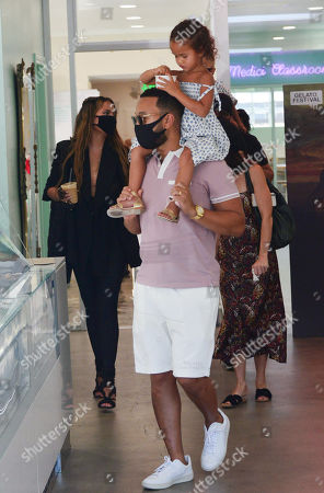Editorial image of Chrissy Teigen and John Legend out and about, West Hollywood, Los Angeles, California, USA - 26 Aug 2020