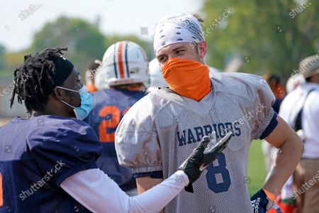 Editorial photo of Virus Outbreak Still Playing Football, Fremont, United States - 25 Aug 2020
