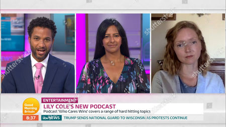 Editorial picture of 'Good Morning Britain' TV show, London, UK - 27 Aug 2020