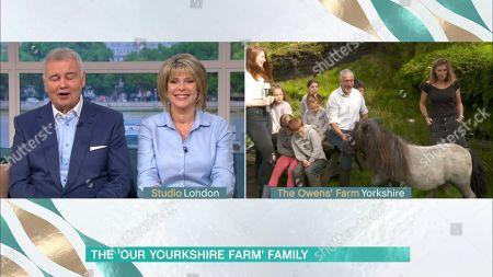 Stock Photo of Eamonn Holmes, Ruth Langsford, Clive Owen and Amanda Owen