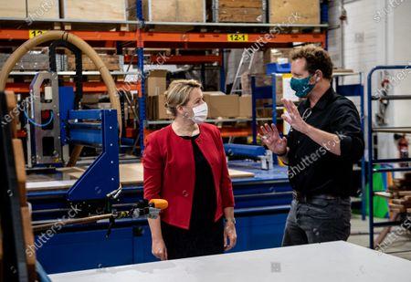 Editorial photo of German Minister Franziska Giffey visits Berliner Seilfabrik, Berlin, Germany - 27 Aug 2020