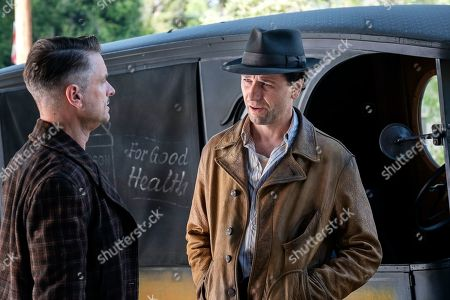 Shea Whigham as Pete Strickland and Matthew Rhys as Perry Mason