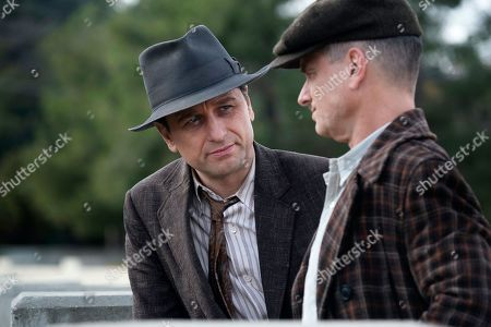 Matthew Rhys as Perry Mason and Shea Whigham as Pete Strickland