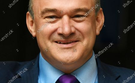 Stock Photo of Sir Ed Davey reacts after being announced as the new leader of the Liberal Democratic Party, in London, Britain, 27 August 2020. Ed Davey is elected as the new leader of the Liberal Democrats, defeating Layla Moran in a two-person contest to succeed Jo Swinson, who resigned after losing her seat at the December general election.